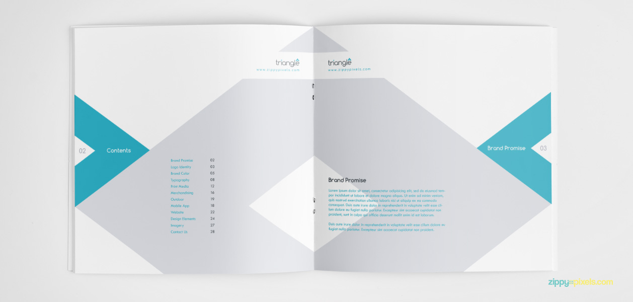Bundle Of 10 Brand Book Templates From Zippypixels