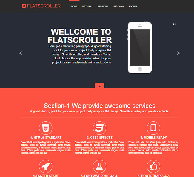 10 premium responsive bootstrap templates - only  10