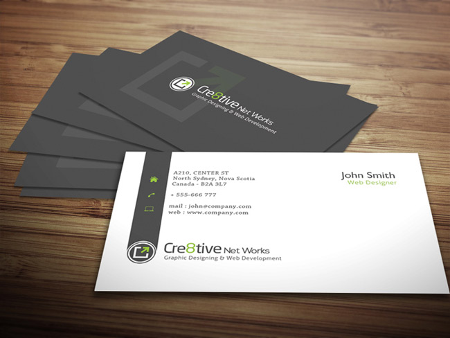 business card preview template