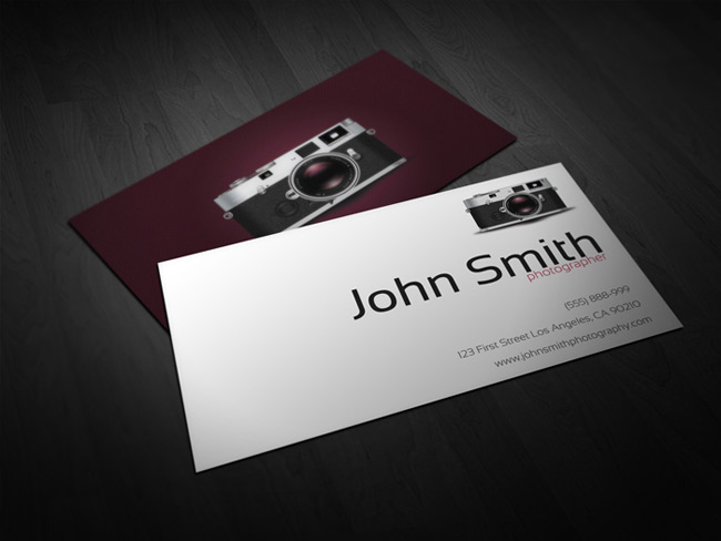 Last day 40 ready to print business card templates only for Photographer business cards templates