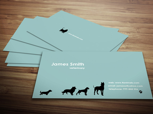 Last day 40 ready to print business card templates only for Veterinarian business cards