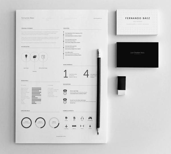 free resume template by fernando b u00e1ez