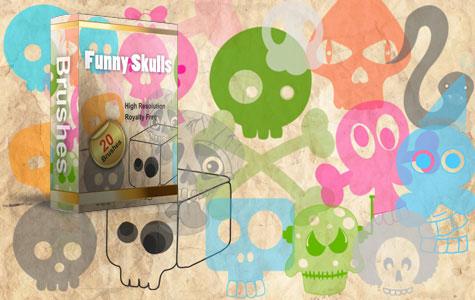 Funny Skulls Brushes