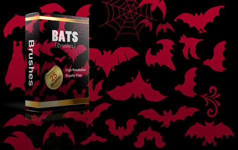 Halloween Bats Brushes