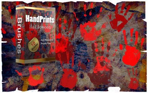 Scary Handprints Brushes