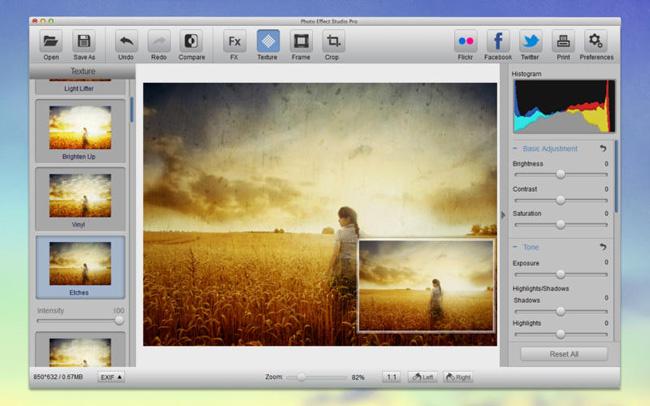 Photo Effect Studio: software per effetti fotografici Photo Effect Studio: software per effetti fotografici screen800x500