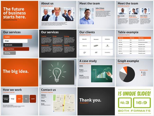 pitch presentation template