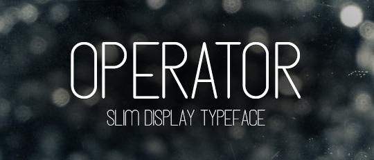 Operator Font