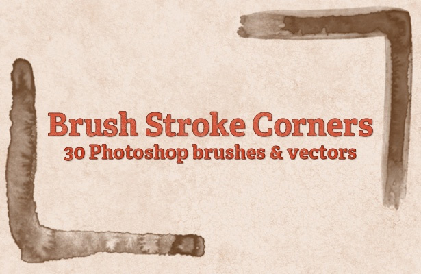 Brush Stroke Corners Brushes