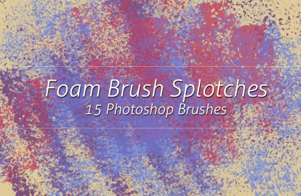 Foam Brush Splotches