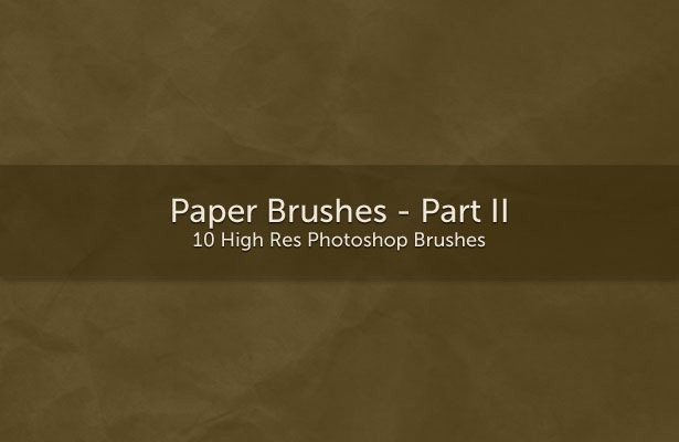 Paper Brushes - Part II