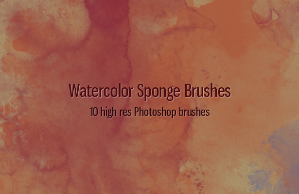 Watercolor Sponges Brushes