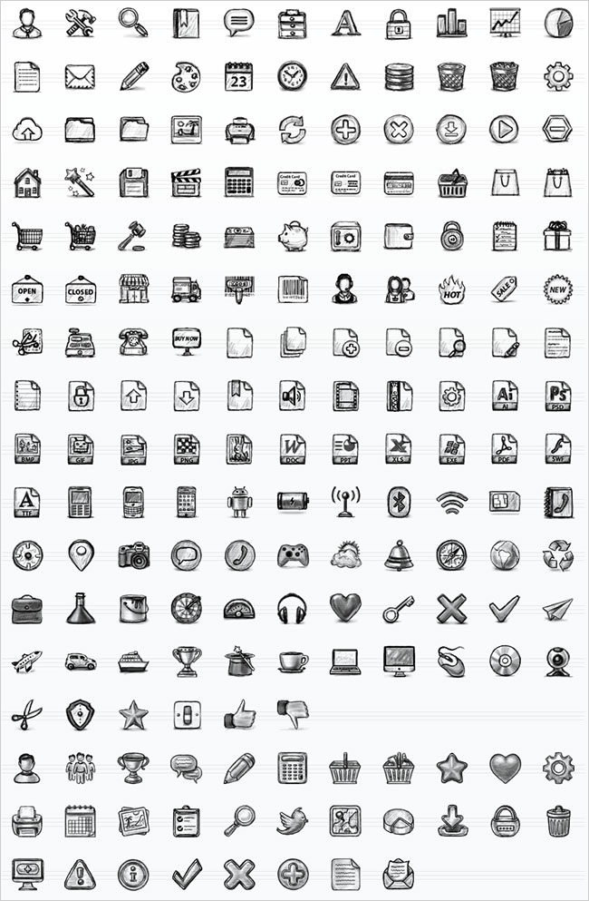 Hand Drawn Sketch Icons