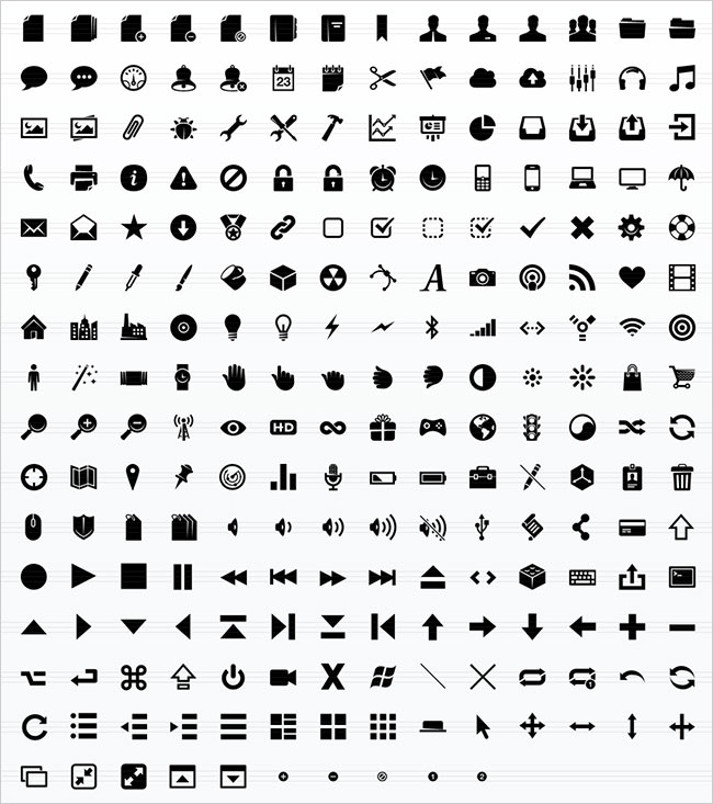 Pictograms Glyphs Icons