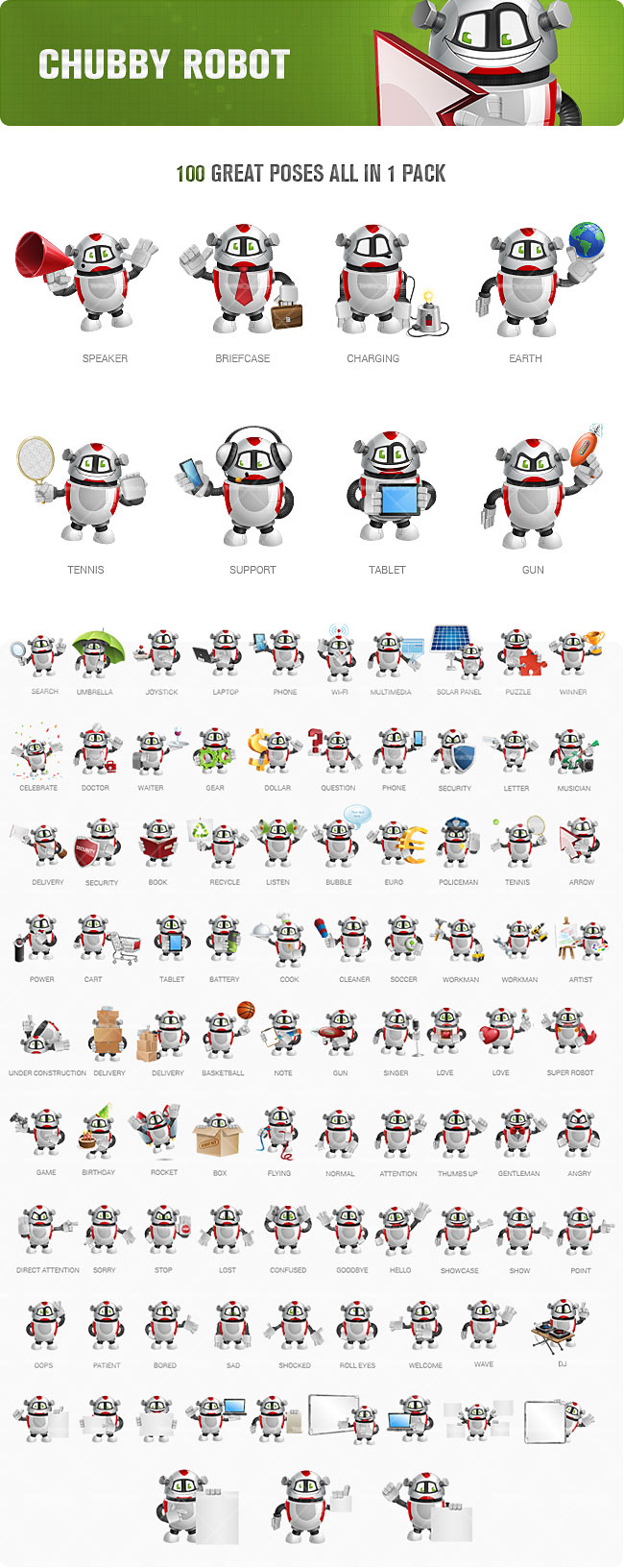 22 robot toon characters in 2200 poses only 24 mightydeals