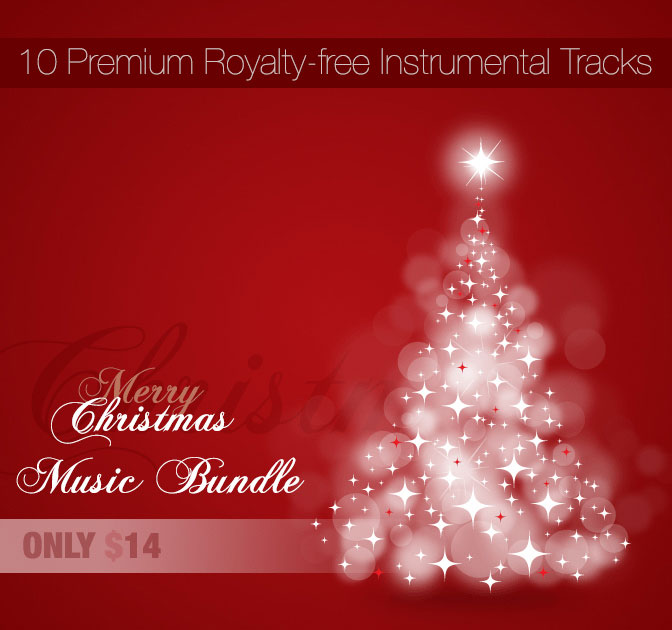 Merry Christmas Music Bundle from LuckStock - only $14!