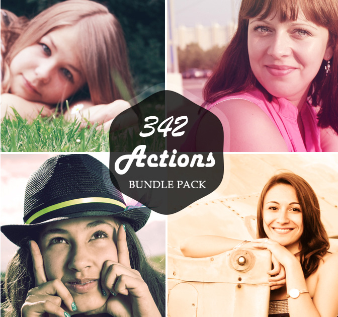 300+ Premium Photoshop Actions - only $9!