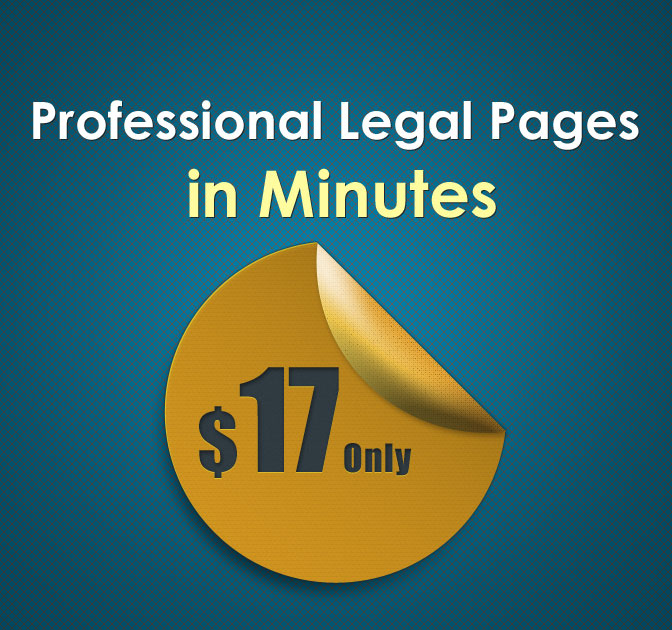 WP Plugin: Add Legal Pages to your Site - only $17!