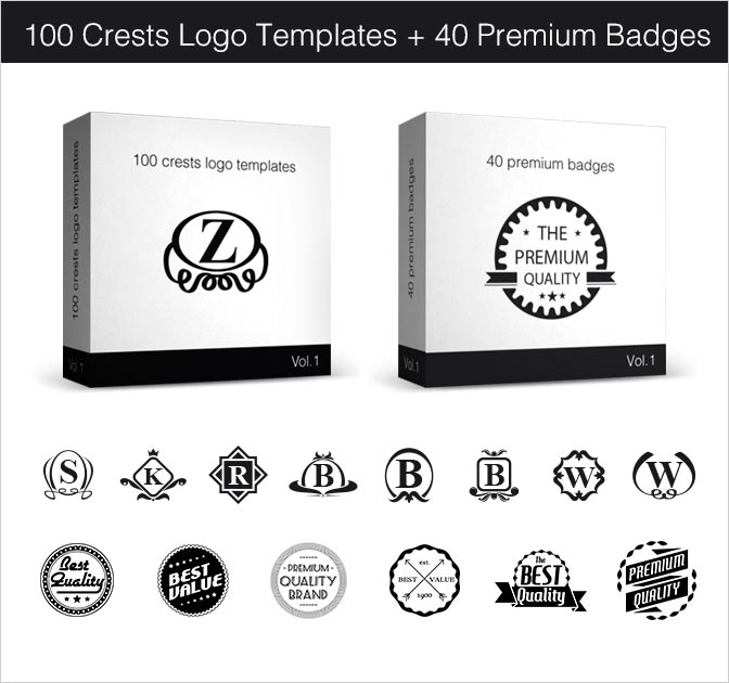 Smarty Bundle: Crests Logo Templates and Badges - only $15!