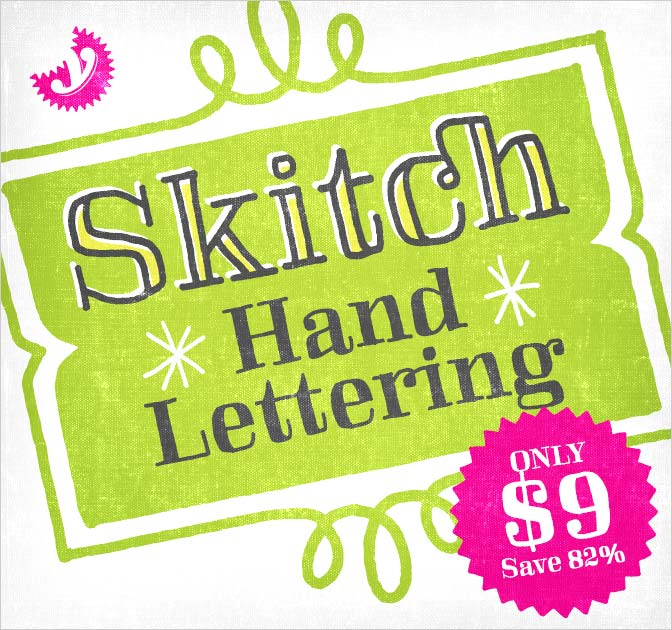 Fun Skitch Font Family (all 11 fonts) - only $9!