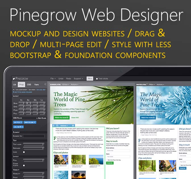 Design Websites Faster with Pinegrow Web Designer - only $24!