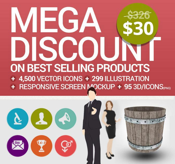 Mega Design Bundle from Inventicons - only $30!