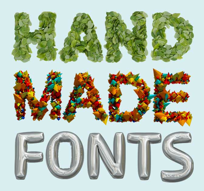 Bundle of Gorgeous Handmade Image Fonts - only $39!