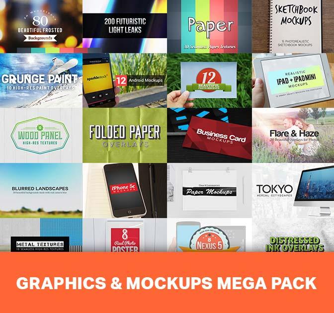 18 Professional, Hi-Res Graphics and Mockups Bundles - only $17!