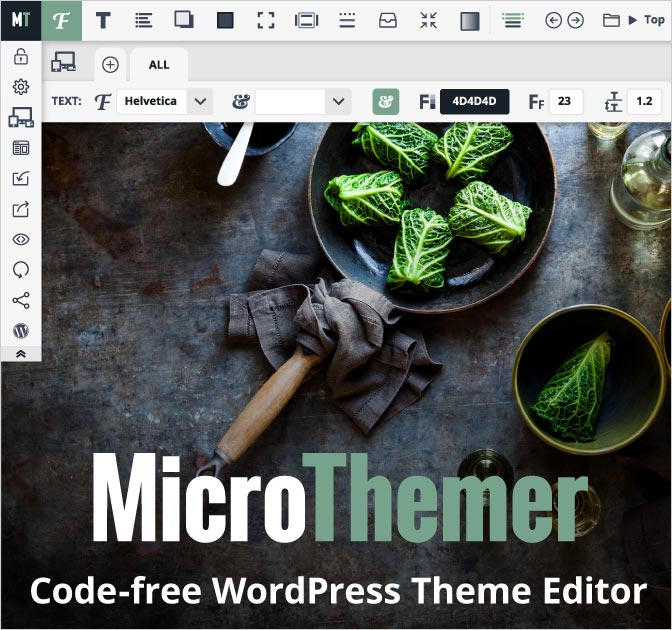 Microthemer: Code-Free Visual WP Theme and Plugin Editor - only $17!