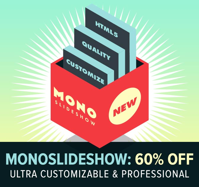 Monoslideshow 3: HTML5 Image & Video Slideshow - only $15!