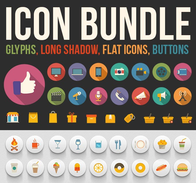 2,000 Unique Icons <br />(5 different icon sets) - only $13!