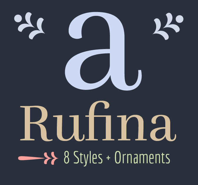 Get the Elegant RUFINA Font Family - only $17!