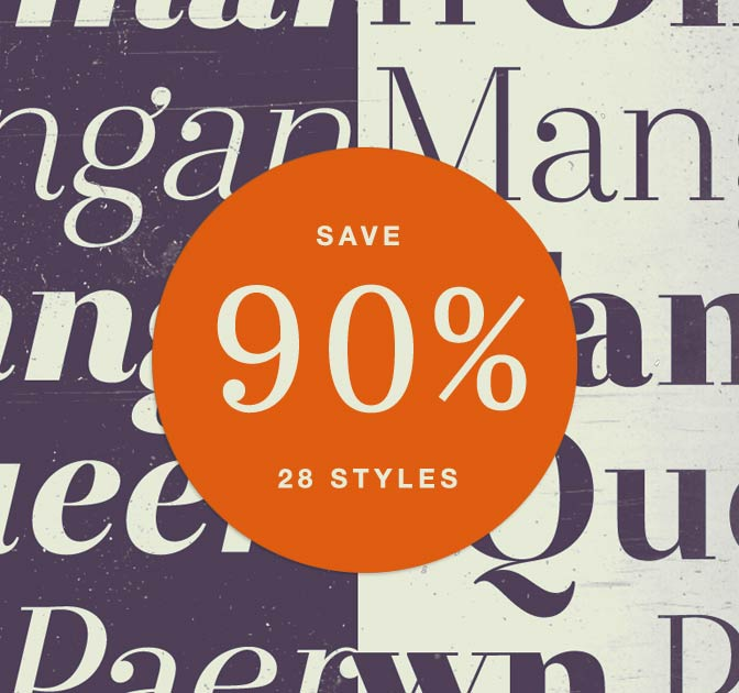 The Sophisticated Otama Font Family, 28 Styles - almost 90% off!