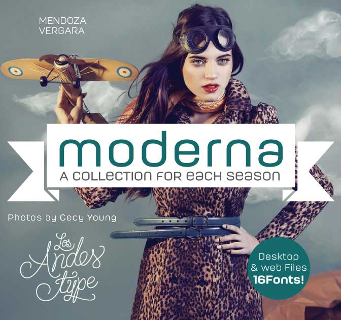 Get MODERNA: A Beautiful Sans Serif with 16 weights - only $14!