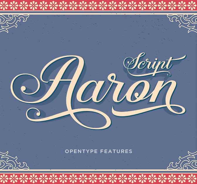 Classy, Elegant Aaron Script Font - only $9!