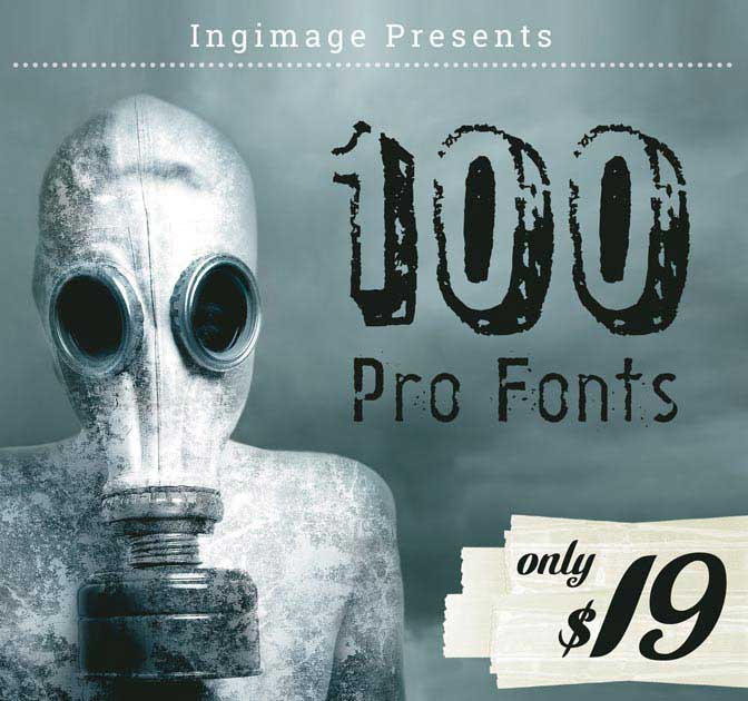 Ingimage: 100 Professional Fonts - only $19!