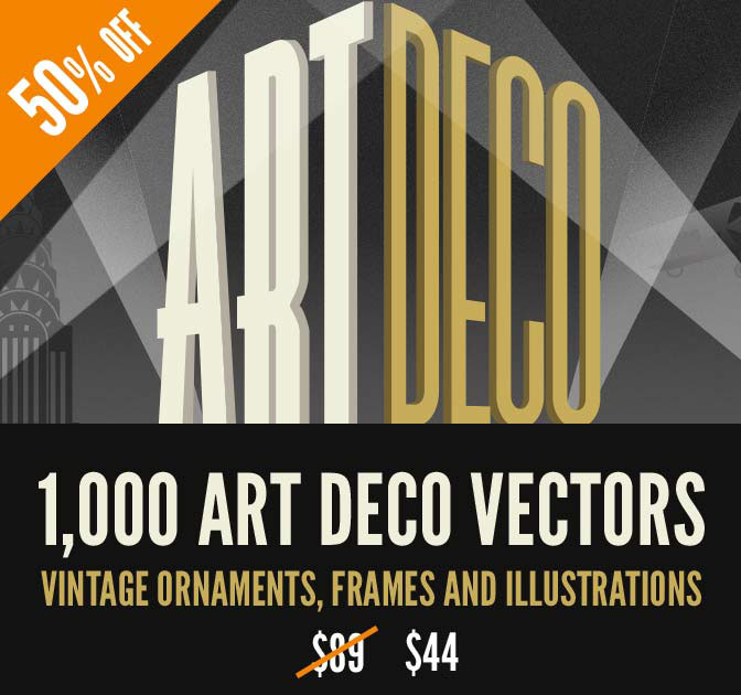 1,000+ Art Deco Vector Graphics from Vectorian - 50% off!