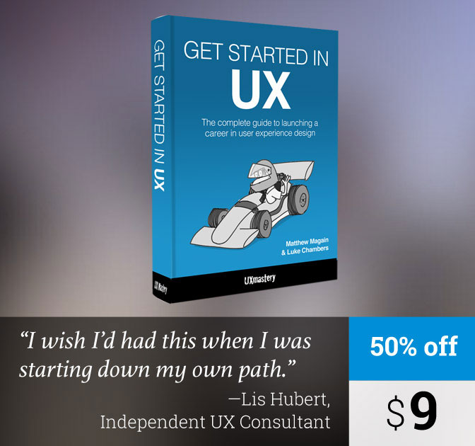 eBook: Kickstart your Career in UX Design - only $9!