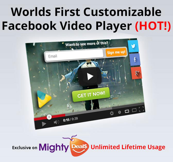 Customize and Brand Facebook Videos with VideoSkin - over 60% off!