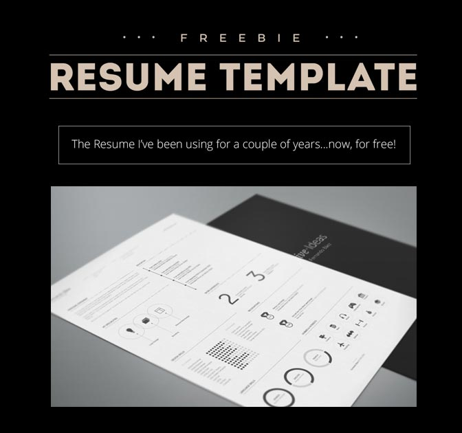 FREE Resume Template by Fernando Báez - MightyDeals