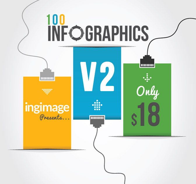 100 Premium Infographics V2 from Ingimage - only $18!