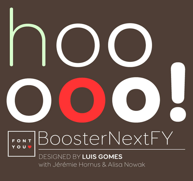 Get the Booster Next FY Font Family (6 weights) - only $19!