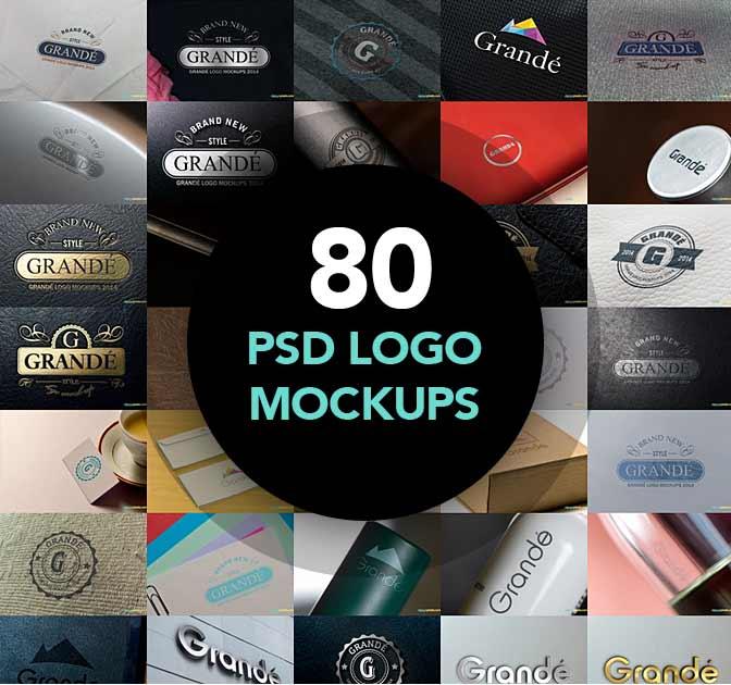 80 Hi-Res Logo Mockups from Zippy Pixels - only $27!