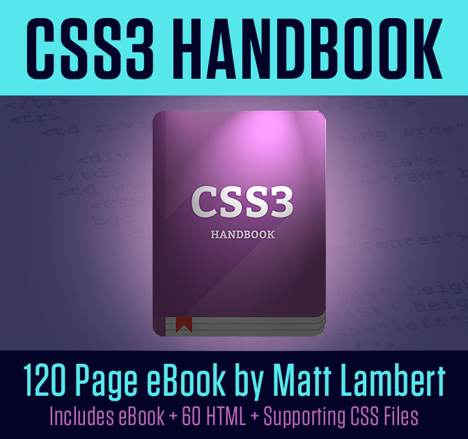 Master Web Design with the CSS3 Handbook - only $14!