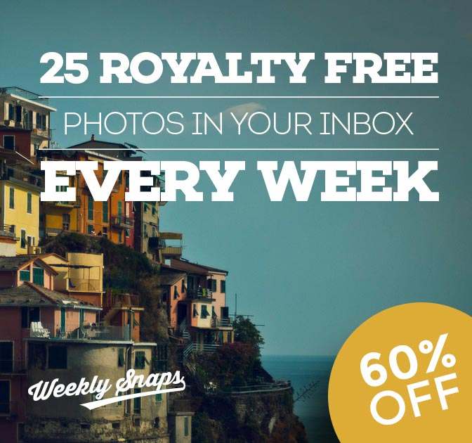 Get 25 Royalty-Free Photos in your Inbox Every Week for 1 YEAR - only $37!