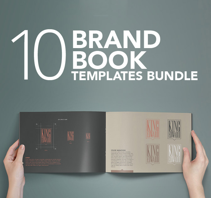 Bundle of 10 Brand Book Templates from ZippyPixels - only $27!