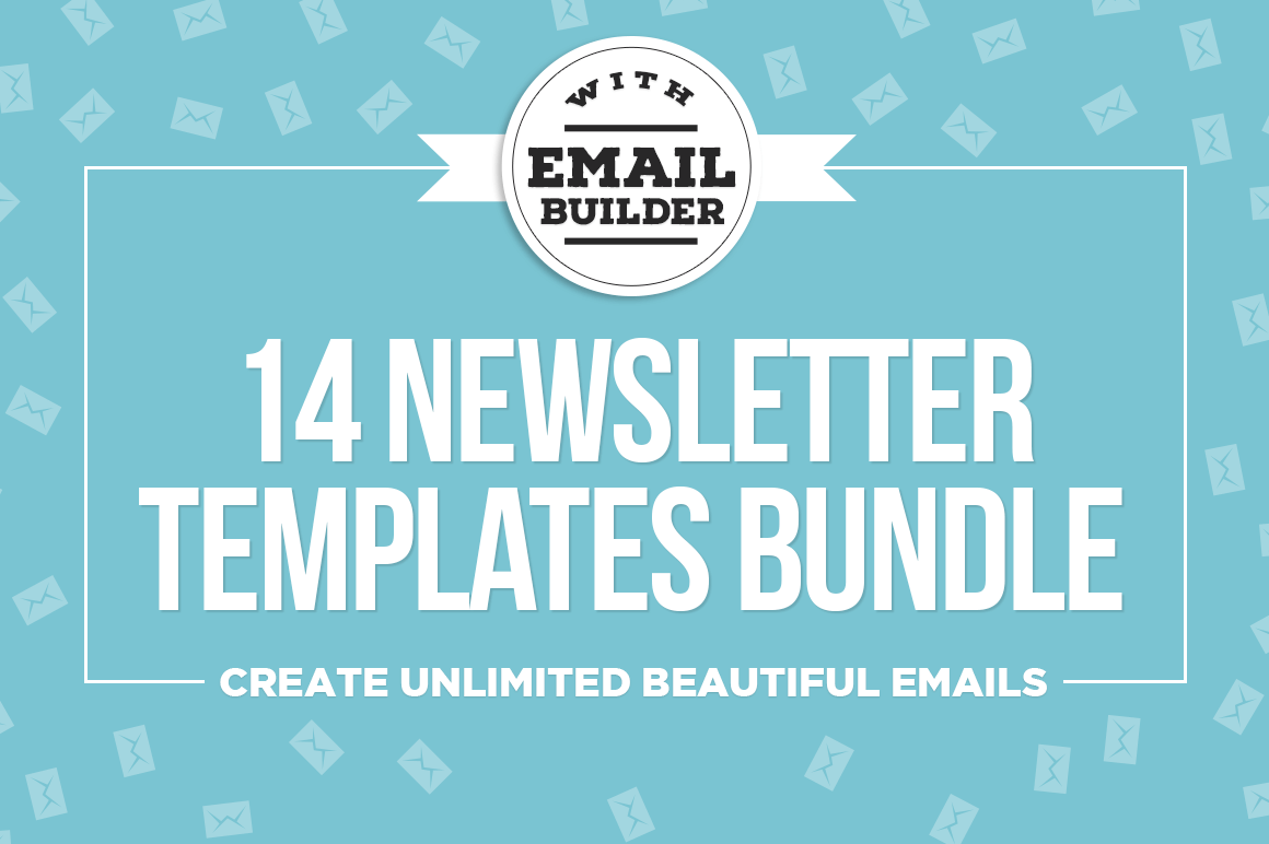 bundle of 14 email newsletter templates mailchimp compatible