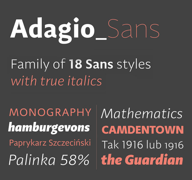 Adagio Sans Family (18 Modern Fonts) - only $20!