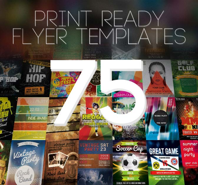 BUNDLE: 75 Amazing Print-Ready Flyer Templates - only $19!
