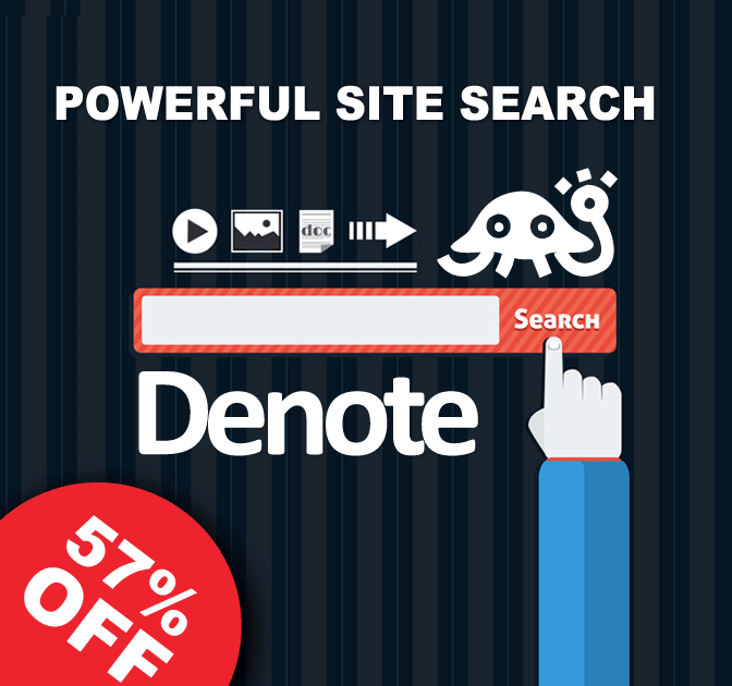 DENOTE: Powerful Customizable Site Search - up to 57% off!